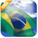 3D Brazil Flag Live Wallpaper  icon download