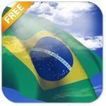 3D Brazil Flag Live Wallpaper