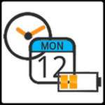 Battery Clock Calendar  icon download