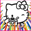 Hello Hello Kittys Coloring  icon download