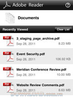 Adobe Reader cho iPhone