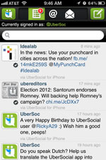 UberSocial for Twitter for iPhone