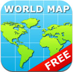World Map for iPad Free icon download