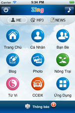 Zing for iPhone icon download